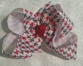 Alabama Inspired ROLL TIDE Houndstooth Hair Bow