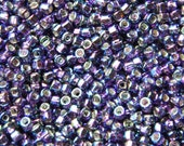 Matsuno AB Lavender (with Silver Lined Square Hole) Round 6/0 Seed Bead