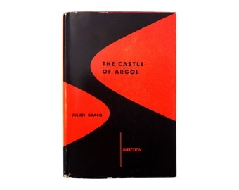 "Alvin Lustig book jacket design, 1951. ""The Castle of Argol"" by Julien Gracq  [New Directions, Direction Series]"