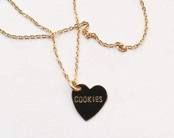 Cookies Heart Charm Necklace