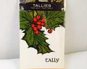 Vintage Christmas Gibson Tally Bridge Cards, Bridge Tallies, 2 Way 2 Table Set of 8, Sealed New, Holly, Retro, Taylor Progressive Bridge