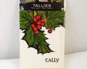 Vintage Christmas Gibson Tally Bridge Cards, Bridge Tallies, 2 Way 2 Table Set of 8, Sealed New, Holly, Retro, Taylor Progressive Bridge