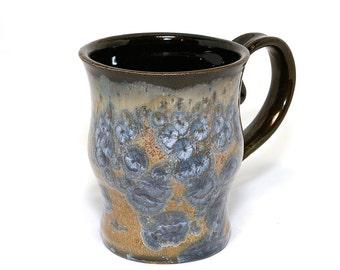 "NEW COLOR ""Drifting Blue"" Crystalline Glazed Coffee or Tea Mug"