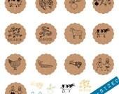 Choice of 13 Varied Menu Olive Wood Stamps