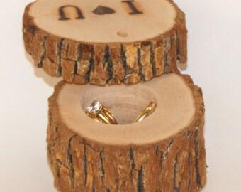 Ring Bearer box ~ engagement wood box ~ Wedding ring box ~ Rustic wedding decorations ~ ring bearer pillow ~ rustic ring bearer~ ring pillow