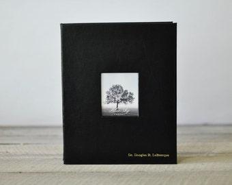 Memorial Guest & Photo Book - Post-Bound Memorial Service Book