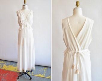Vintage 1930s BIAS cut wedding dress