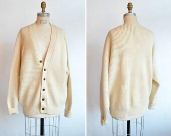 Vintage 1980s OVERSIZE wool cardigan sweater