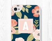 iPhone 6s Case Floral iPhone 6 Case Floral Phone Case Personalized Womens iPhone 5s Case Samsung Galaxy S6 Case Floral Monogram