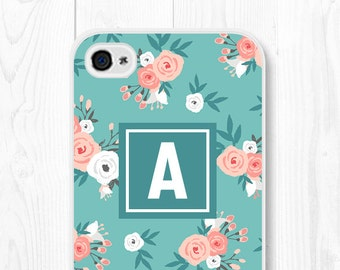 iPhone 6 Plus Case Floral iPhone 6 Case Floral Phone Case Samsung Galaxy S7 Case Floral iPhone 5 Case Monogram iPhone SE Case iPhone 5c Case