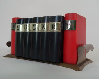 Salt Pepper Sugar Kitschy Fun Bookshelf Davis Products for Cookbook Lover