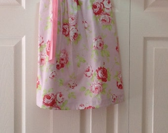 Cottage Chic Rose Dress in Pink  by Cheryl's Bowtique - 2016 Cottage Collection