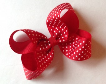 Boutique Red Polka Dot Bow by Cheryls Bowtique