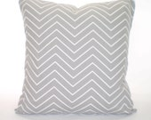 Gray White Decorative Throw Pillow Cover, Cushion Covers, Grey White Chevron, Accent Pillow Couch Bed Sofa Euro Sham Home Decor ALL SIZES