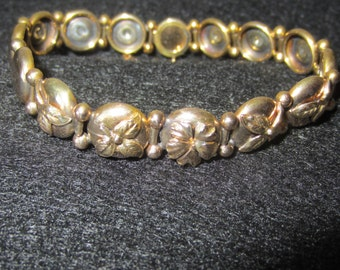 Antique Victorian Solid Rose Gold Button Bracelet