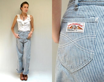 70s High Waisted Jeans  //  Bell Bottom Jeans  //  SAN FRANCISCO