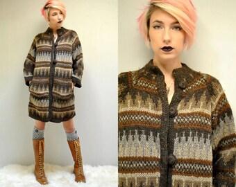 Fair Isle Sweater  //   Oversized Duster Cardigan  //  THE YUGOSLAVIAN
