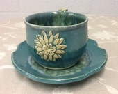 Flower  Cup and Saucer
