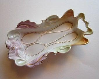 vintage porcelain demitasse spoon rest - marked Germany
