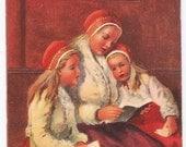 Signed Jenny Nystrom Antique Postcard - Christmas, Christmas Postcards, Jenny Nystrom, Swedish, Children, Paper, Ephemera
