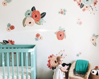 Exceptionnel Vinyl Wall Sticker Decals   Graphic Flower Clusters