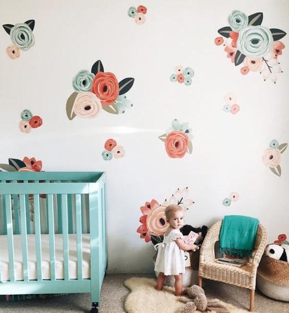 Vinyl Wall Sticker Decals Graphic Flower Clusters