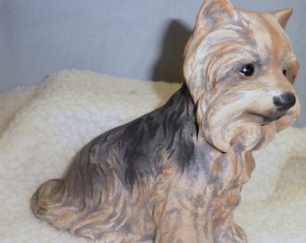 SALE 20% Off Yorkie D 701 Hand painted ceramic dog
