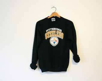 Vintage Kids Black Pittsburgh Steelers Pennsylvania Football Sweatshirt