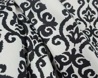 Luminary Panther Black White Damask Fabric