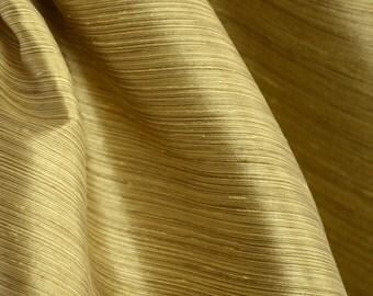 Borgata Gold Stria Striped Polyester Drapery Fabric