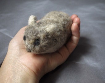 Needle felted baby bunny with teeny tiny baby ears