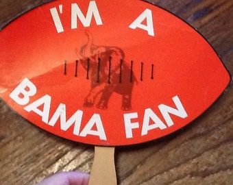 Vintage Bama Fan 1979-1980 Bear Bryant Alabama Crimson Tide