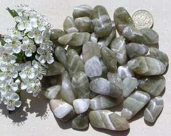 10 Pale Green Prasiolite (Quartz) Crystal Tumblestones, Green Crystals, Crystal Collection, Chakra Crystals, Quartz Crystals, Meditation