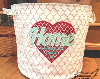 Home is where the heart is applique