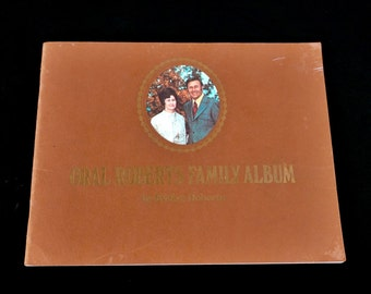 Oral Roberts Family Album Vintage Biography Christian Book 1970s