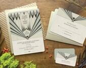 Art Deco Wedding Invitation, Wedding Invitation, Wedding Invitation Suite, Art Deco Wedding, Gatsby Wedding Invitation, Marquee Design