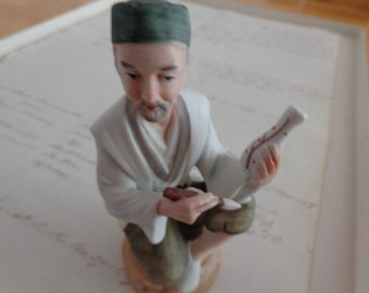 Hand Painted Vintage  Japanese Porcelean figurine  numbered