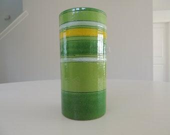 Green mid century Italy Rosenthal Netter vase Bitossi