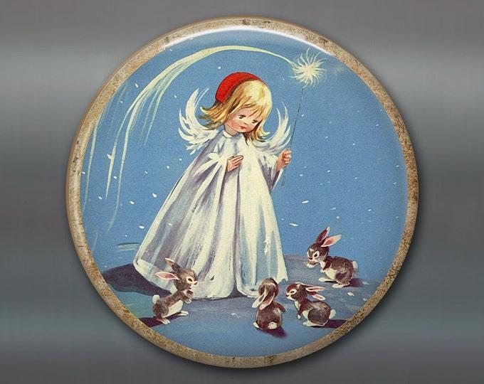 "3.5"" holiday magnets for the kitchen - angel ornaments christmas tree decor ideas - holiday decorating ideas - retro kitchen decor MA-HOL-19"