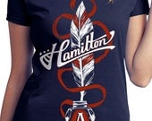 Alexander Hamilton T-Shirt // Hamilton Musical Quill // Hand Screen Printed Shirts for musical theater fans // Available in Plus Sizes
