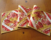 Table Runner, Quilted Table Runner, Spring Table Runner, Floral Table Runner, Tablerunner, Handmade Table Runner, Yellow Tablerunner, Home