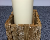 Lobster Trap Candle Holder~Driftwood~Nautical Candle~ Rustic Wood~Reclaimed Wood~ Housewarming Gift