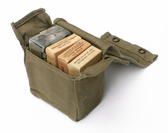US Army Aviator Camouflaged First Aid Kit 1960s Vietnam Era Vintage Military Survival Gear