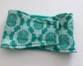 Dog Diaper - Male Dog Belly Band - Belly Wrap - Teal Skulls - Available in all Sizes
