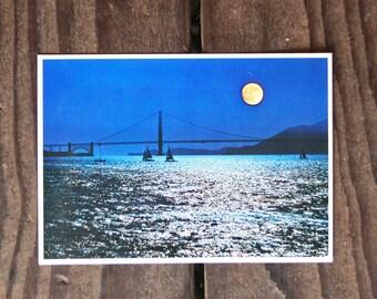 Vintage 1976 Golden Gate Bridge Post Card - Unused