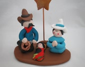 Western Cowboy Handmade Christmas Nativity Set