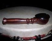 Brazilian Kingwood pipe with African Blackwood lid smoking tobacco herb herbal wooden pipe