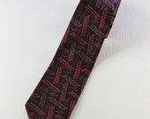 SALE - Vintage  Modern Abstract Pattern Skinny Necktie