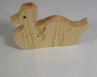 Duck Puzzle - Kid's Toy Puzzle - Wooden Duck Puzzle for Child's Decor and Play