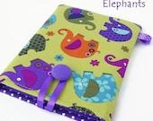 ON SALE Elephants - Kindle Paperwhite Case, Kindle Cover, LAST One! Purple polka dots. Wales Uk.